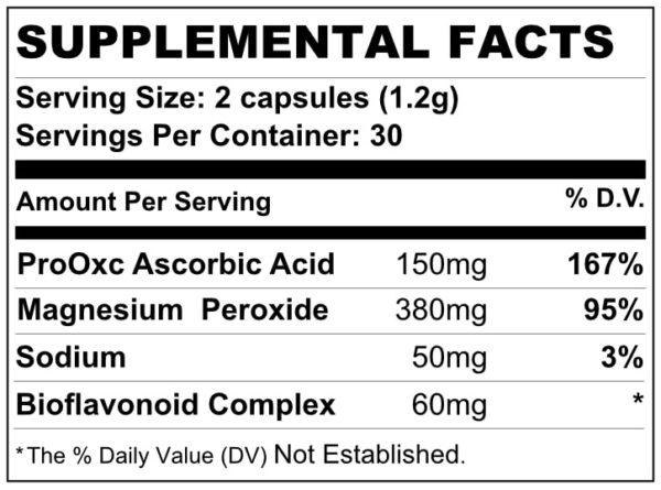 TRUOXYMAG Supplemental Facts